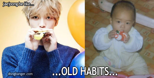 Cute Jaejoong! Old habits… kekeke